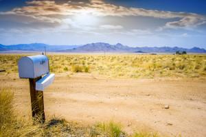 mailbox in desert