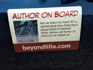 author on board sign