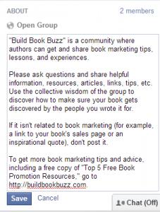 Create a Facebook group 7