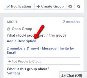 Create a Facebook group 13