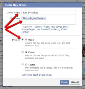 Create a Facebook group 4