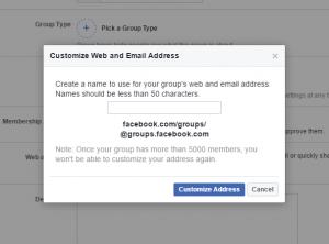 Create a Facebook group 12