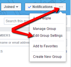 Create a Facebook group 11