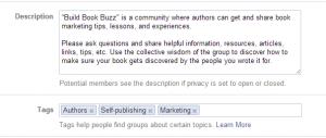 Create a Facebook group 10