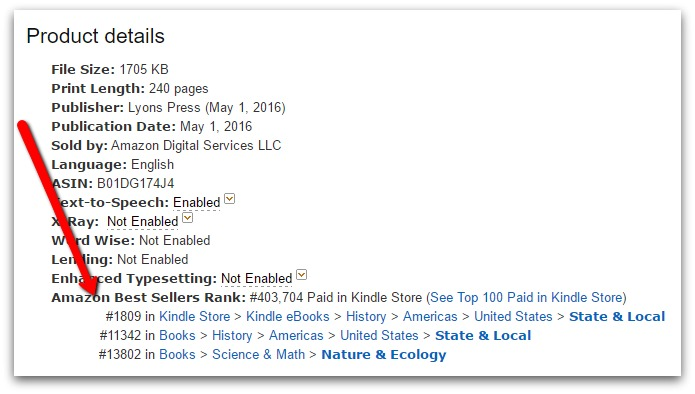 amazon books sales rank