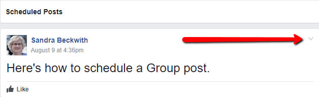 schedule a Facebook group post 7