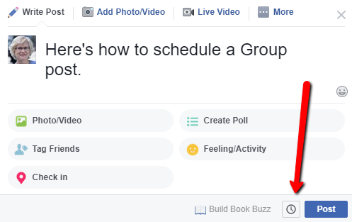 schedule a Facebook group post 3