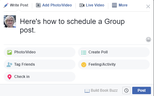 schedule a Facebook group post 2