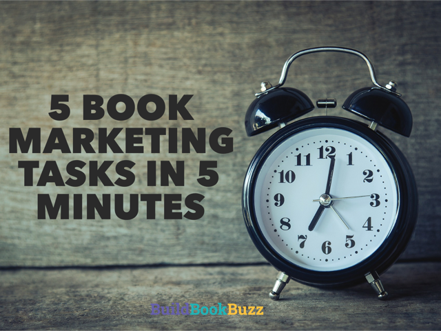 book marketing tasks
